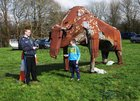 <br /> Noah and Dylan Byrne, Abbeyknockmoy,  at the Claregalway Castle Spring,  Garden, Food and Craft Fair on Sunday.