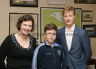 "Heidi Sohlberg-Siltanen and her sons Kaj and Martin Siltanen, Wellpark, at St Joseph's College ""The Bish"" Rowing Club dinner at Galway Rowing and Yachting Club"