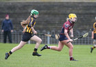 Presentation College, Athenry, v Loreto Secondary School, Kilkenny, Tesco All-Ireland Post Primary Junior A Camogie Final in Banagher.<br /> Megan Gannon, Presentation College, Athenry, and Caoimhe Keher-Murtagh, Loreto Secondary School, Kilkenny