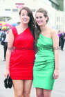 Cousins Claire and Louise Murray, both from Mountbellew, pictured at Ladies Day at the Galway Races.