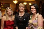Ciara Feely, and Una Feely, Oranmore, and Caroline Piggott, Clarenbridge, at the Connacht Rugby Awards dinner at the Ardilaun Hotel.