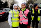 <br /> Ann Monahan and Breda McHugh, taking part in the Menlo National School  walk in aid of Ability West.
