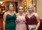 Ava Lawless, Furbo, and Sarah Fahy and Rebecca Cronin, both from Menlo, at Salerno Secondary School Debs Ball in the Ardilaun Hotel.