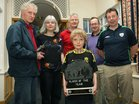 Jack Byrne was chosen as the Club Player of the Year for the Barna Furbo United FC annual awards. Pictured at the presentation of the awards at the Connemara Coast Hotel were Jack's brother Tomas who accepted the award on his brother's behalf, and from left: Tom Byrne and Rosie Dunne, parents of Jack and Tomas, and coaches Padraic Timon, Gerry Carty and Noel O'Toole.
