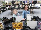 <br /> Emily and Moya Whiriskey, Claregalway,  at the Claregalway Castle Spring,  Garden Food and Craft Fair on Sunday.