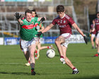 Galway v Mayo 2020 Connacht Senior Football Final at Pearse Stadium. <br /> Galway's Michael Daly and Mayo's Matthew Ruane