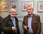"Frank Cooke, Newcastle, and Padraig O'Mahony, Clonmel, at the opening of ""Buíochas-Gratitude"", Angeline Cooke's new exhibition of paintings, dedicated to all organ donors. The exhibition, inspired by the Circle of Life National Organ Donor Commemorative Garden in Salthill, is on display in Renzo Café, Eyre Street, until 12th January 2020. Proceeds from the sale of paintings will go to Strange Boat Donor Foundation. <br />"