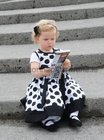 Twenty month old Ava Connolly, Roscahill, at the races last night.