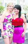 Niamh Kemple and Sarah Hogan, both from Moylough, pictured at the Galway Races at Ballybrit.