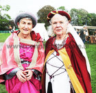 <br /> Eileen Qualter and Aideen Rynne, Athenry,  at the International Medieval Combat Tournament at Claregalway Castle.
