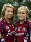Galway Senior Camogie players, (from left),<br />  Rebecca Hennelly and Shauna Healy, (both from Ardrahan)