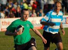 Pictured at the finals of Tag Rugby 2011 at Corinthian Park on Friday 22 July<br /> <br /> Action from the D Grade Plate final between Try Hards and Saints & Sinners<br /> <br /> Mike McMahon of Try Hards