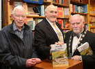 Padraic McCormack at the launch of his book, 'Beneath the Silence', with Senator Billy Lawless and Cllr Donal Lyons, Deputy Mayor of Galway, in Charlie Byrne's Bookshop.
