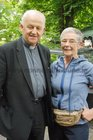<br /> Bishop of Galway Mot Rev Dr Michael Kelly and Anne Walton, Moycullen, at the St. Nicholas Garden Fete at the Rectory Taylors Hill.