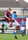 Galway United v Finn Harps SSE Airtricity League game at Eamonn Deacy Park.<br /> Galway United's Eoin McCormack and Gareth Harkin, Finn Harps