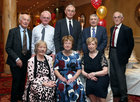 Pictured at the Renmore Active Retirement Association 20th anniversary dinner in the Galway Bay Hotel were Sally Carty, Carmel Dunleavy and Marie Thornton. Back, from left: Paddy Moran, Pat Carty, Andy Dunleavy, Paddy Thornton and Pat Houlihan.