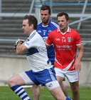 Tuam Stars v Killannin Senior Football Championship game at the Pearse Stadium.<br /> Killannin goalkeeper Shane Sheridan and Edwin Murray, and Jamie Murphy, Tuam Stars