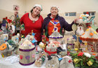 Karen Gale and her mother Carmel Hodsoll at their display of handmade Christmas crafts by Loughrea Resource Centre at the Ballybane Christmas Fair in Ballybane Community Centre last Saturday.