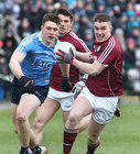 Galway v Dublin Allianz Football League Division 1 game at the Pearse Stadium.<br /> Galway's Eamonn Brannigan and Dublin's John Small
