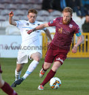 Galway United v UCD League game at Eamonn Deacy Park.<br /> Galway United's Ryan Connolly and UCD's Paul Doyle
