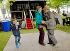 <br /> Anne Byrne, Stradbally and Kevin Cunniffe, Ahascragh, dancing at the Clarinbridge Market Day.