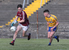Galway v Roscommon Minor Football Championship game at Tuam Stadium.<br /> Cathal Sweeney, Galway and Liam Ormsby, Roscommon