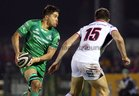 Connacht v Ulster Guinness PRO14 game at the Sportsground.<br /> Connacht's Jarrad Butler and Ulster's Jacob Stockdale