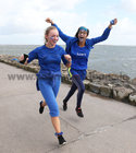 Students taking part in the Dominican College 5k fun run on the Salthill Promenade.