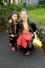 <br /> Anthony Small, with his mother Janice O'Brien, on his first Day at Menlo National School.