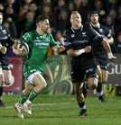 Connacht v Ospreys Guinness Pro14 game at the Sportsground.<br /> Connacht's Caolin Blade and Hanno Dirksen, Ospreys