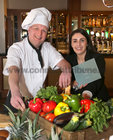 Mareks Kudla, Head Chef, and Victoria Ward, Sales and Marketing Manager, at the Lough Rea Hotel & Spa Wedding Showcase.