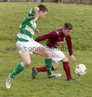 West United v Castlerea Celtic at South Park.<br /> Sean Keogh, West United and Jack Higgins, Castlerea Celtic
