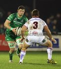 Connacht v Ulster Guinness PRO14 game at the Sportsground.<br /> Connacht's Eoghan Masterson and Ulster's Wiehahn Herbst