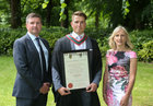 Dr. Craig Joyce, Wellpark Road, with his parents Gerry and Caroline, after he was conferred with the degrees of M.B. B.Ch. B.A.O., Honours, at NUI Galway