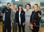 Mark Cormican and Brenda Murray of the Oranmore Lodge Hotel, Margaret Murphy, Healthwise Pharmacy, and Dovile Valantina and Melissa Gibbons of Perla Valantina Boutique at the Bank of Ireland Enterprising Town competition hosted at Oranmore Community Centre.
