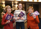 Anne McElwain, committee member, Aoibheann Howe, front of house, and Maureen McCarthy, treasurer, on the opening day of Sleeping Beauty, the 40th Annual Renmore Pantomime, at the Town Hall Theatre.