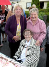 Eileen Moloney with her daughter Maureen Geary (left) and Bernie Cummins at the party
