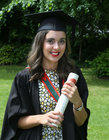 Dr. Amelia Hogan from Menlo after she was conferred with the degrees of M.B B.Ch. B.A.O., Honours, at NUI Galway.