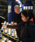 Lighting candles after a morning session at the Solemn Novena to Our Lady of Perpetual Help at Galway Cathedral this week.