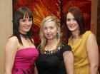 Erica Ryan, Claregalway, Lisa Coen, Ballinderreen and Erica Griffin, Claregalway, at the Claregalway GAA Club Fashion Show Extravaganza at the Clayton Hotel.