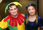 Richard Brown as Dopey Dave and Eilish O'Malley who plays the part of Penny Dreadful in Sleeping Beauty, the 40th Annual Renmore Pantomime at the Town Hall Theatre.