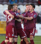 Galway United v UCD League game at Eamonn Deacy Park.<br /> Eoin McCormack celebrates his goal