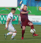 Galway United v UCD League game at Eamonn Deacy Park.<br /> Galway United's Robbie Williams and UCD's Daire O'Connor
