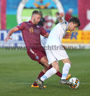 Galway United v UCD League game at Eamonn Deacy Park.<br /> Galway United's Alex Byren and UCD's Kevin Coffey