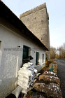 Sandbags placed at the visitor centre at the Yeats Tower Thoor Ballylee as flood water rise this week.