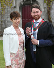 Ann McGreevy, Dr Mannix Road, Salthill, with her son Dr Niall McGreevy after he was conferred with the degrees of M.B. B.Ch. B.A.O., Honours, at NUI Galway.