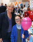 Thelma Lawless, Chairperson of Scoil Mhuire Parents Association, and her daughter Katie at Oranmore Enterprise Town Business, Sports and Community Expo, hosted by the Bank of Ireland, at Calasanctius College last weekend.
