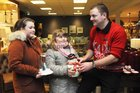 <br /> Kevin Glennon, Store Manager with Megan and Katie Gavin, Renmore, at the EZLiving Family and Friends   Christmas Evening at the store.