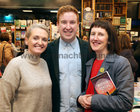 Marilyn Gaughan Reddan, Head of Programme, and Craig Flaherty, Cultural Producer, Galway 2020, and Sinead McPhillips, publicity and marketing, Galway International Arts Festival, and publicist with Baboró International Arts Festival for Children, at the launch of Patricia Forde's new novel, 'Mother Tongue' in Charlie Byrne's Bookshop.