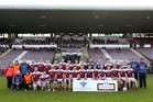 Claregalway v Williamstown Intermediate Football Championship final at the Pearse Stadium.<br /> Williamstown. Back Row (left to right): Marian Lavin, Thomas  Barrett, Brendan Geraghty, Declan Nee, Stephen Ryan, Gerard Comer, Nathan Feeney, Thomas Comer, Sean Kenny, David Keegan, Michael Smyth, Gary Silke, Trevor Nee, David Lyons, Gary Kelly, Seamus Mcloughlin, Sean Keaveney and Myles Connaghton. Front Row: Jimmy Mcloughlin, John Barrett, Shane Conneally, Evan Tully, Ray Nee, Stephen Smyth, David Lennon, Jason Kirrane, John Smyth, Kieran Flatley, Sean Smyth, Gerry Waldron, Conor Tully, Paul Hevican, Micheal Kenny and Thomas Lennon.